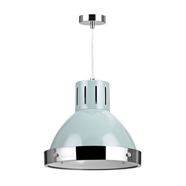 Picture of Vermont Pendant Light Single Shutter Blue