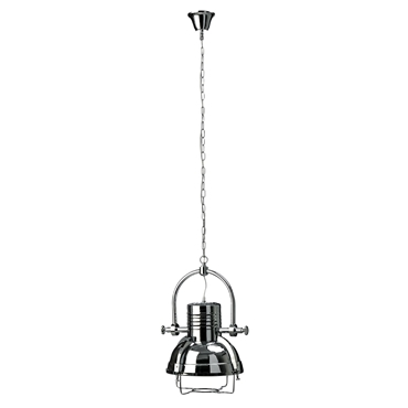 Picture of Industrial Revolution Pendant Light Chrome Exterior / White Interior