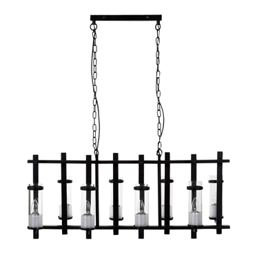 Picture of Aspen Pendant Light Iron / Glass  Matte Black