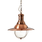 Picture of Industrial Revolution Pendant Light Steel / Glass Copper Finish