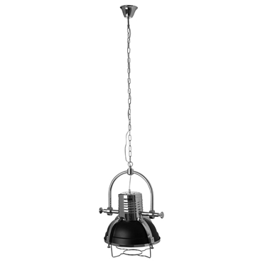 Picture of Industrial Revolution Pendant Light Matt Black / Chrome