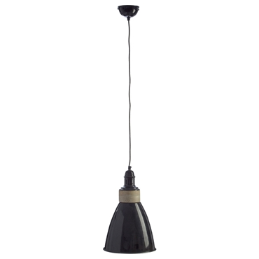 Picture of Oslo Pendant Light Iron / Wood Black