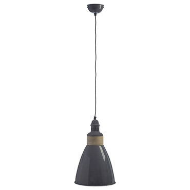 Picture of Oslo Pendant Light Iron / Wood Grey