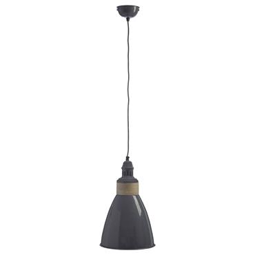 Picture of Oslo Pendant Light Iron / Wood Grey