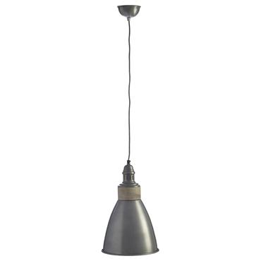 Picture of Oslo Pendant Light Iron / Wood Zinc Finish