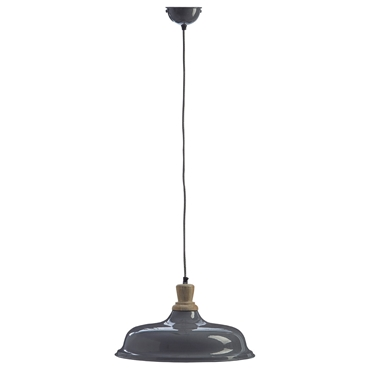 Picture of Oslo Small Pendant Light Iron / Wood Grey