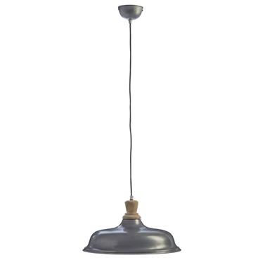 Picture of Oslo Small Pendant Light Iron / Wood Zinc Finish