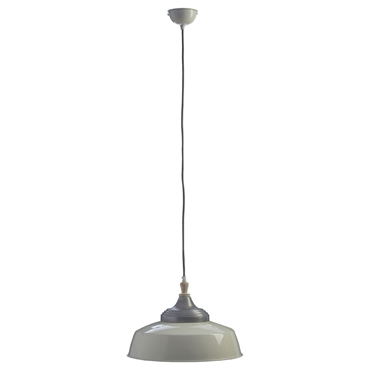 Picture of Oslo Large Pendant Light Iron / Wood White