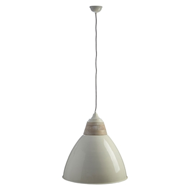 Picture of Oslo Extra Large Pendant Light Iron / Wood White