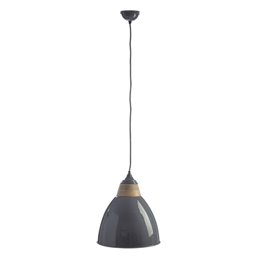 Picture of Oslo Large Pendant Light Iron / Wood Grey