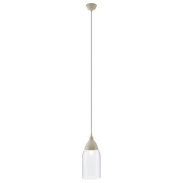 Picture of Oslo Pendant Light Iron / Wood White
