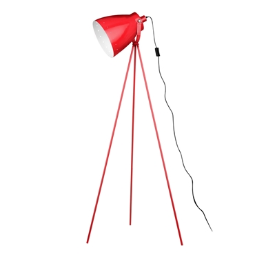 Picture of Tripod Floor Lamp Red Metal