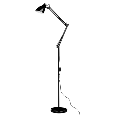 Picture of Adjustable Floor Lamp Black Metal