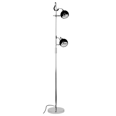 Picture of Twin Floor Lamp Metal / Black Shades