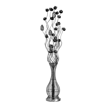 Picture of Flower Lamp Black Aluminium