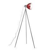 Picture of Tripod Floor Lamp Red Shade / Chrome