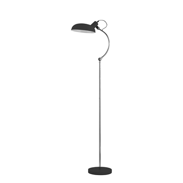 Picture of Contemprary Floor Lamp Black Shade Chrome