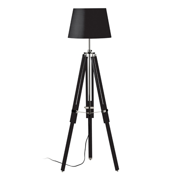 Picture of Floor Lamp with Tripod Base - Black