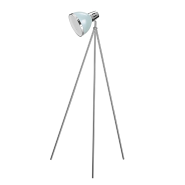 Picture of Vermont Floor Lamp Shutter Blue / Chrome with Tripod Base