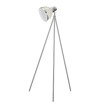 Picture of Vermont Floor Lamp Clay Colour / Chrome with Tripod Base