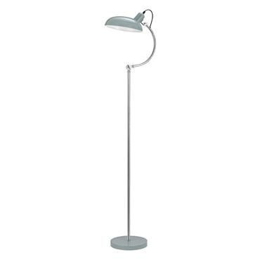 Picture of Vermont Floor Lamp Shutter Blue / Chrome