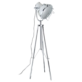 Picture of Industrial Revolution Tripod Floor Lamp Metal White / Chrome