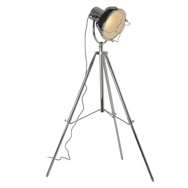 Picture of Industrial Revolution Tripod Floor Lamp Metal Matte Black / Chrome