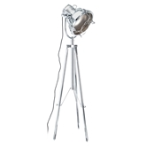Picture of Industrial Revolution Tripod Floor Lamp Metal / Chrome