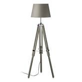 Picture of Tripod Floor Lamp Grey Wood / Chrome