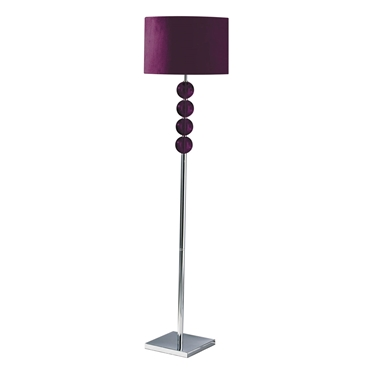 Picture of Mistro Floor Lamp Purple Suede Effect