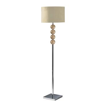 Picture of Mistro Floor Lamp Cream Suede Effect