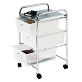 Picture of Trolley with 3 White Plastic Drawers