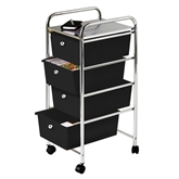 Picture of Trolley with 4 Black Plastic Drawers