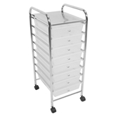Picture of Trolley with 8 White Plastic Drawers