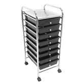 Picture of Trolley with 8 Black Plastic Drawers