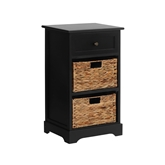 Picture of Vermont Cabinet with 1 Drawer/2 Water Hyacinth Baskets