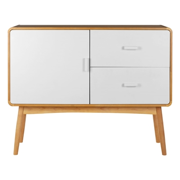 Picture of Malmo Sideboard Oak Wood / MDF 1 Door / 2 Drawers