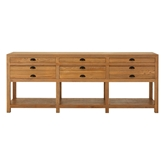 Picture of Lyon Sideboard Grey Oak Wood Six Drawers