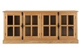 Picture of Lyon Sideboard Oak Wood Metal Detail / Glass Doors