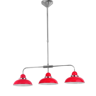 Picture of Red & Chrome Jasper 3 Shade Pendant Light