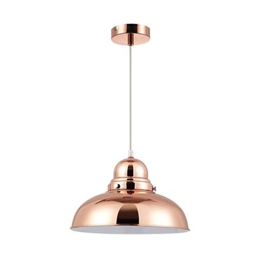 Picture of Jasper Copper Single Pendant Light with Glass Dome for Bulb