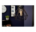 Picture of Bartol Black Metal Wire Pendant Light
