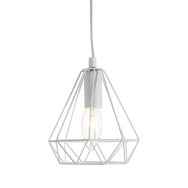 Picture of Beli White Metal Wire Pendant Light