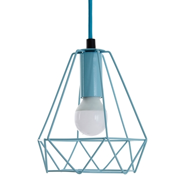 Picture of Beli Blue Metal Wire Pendant Light