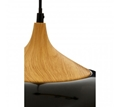 Picture of Blayne Black Metal / Wood Pendant Light