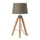 Picture of Tripod Grey Shade / EU Plug Table Lamp