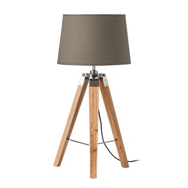 Picture of Tripod Grey Shade / EU Plug Table Lamp