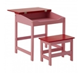 Picture of Kids Red / Light Pink Desk And Stool Set