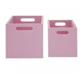 Picture of Pink Kids Storage Boxes Set of 2