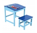 Picture of Boy's Blue Desk And Stool